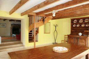 La grande pièce à vivre de 50 m²