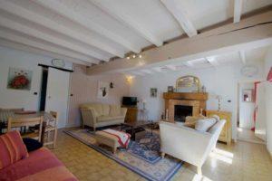 Le grand salon et sa cheminée idéal pour réunir toute la famille ou les amis.