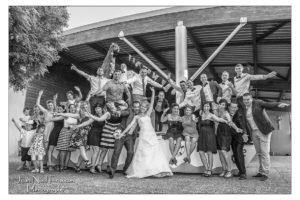 Photo de groupe pour un mariage