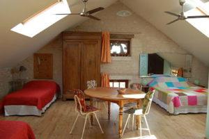 Itinérance: Chambre Itinérance pouvant accueillir jusqu\'à 4 personnes
